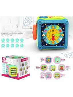 Куб музыкальный PA 199 (12) свет, звук, телефон-передатчик, в коробке [6973620251555]