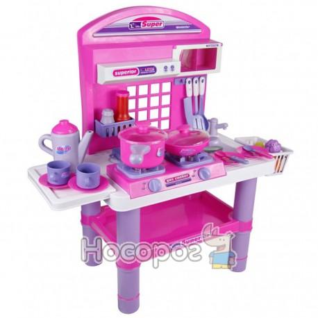 Кухня дитяча 61008 (плита, посуд, продукти, мойка, звук, світло) (5)