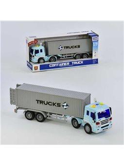 Машина Трейлер грузовой WY 575 A (18) инерция, свет, звук, в коробке [6974060113601]