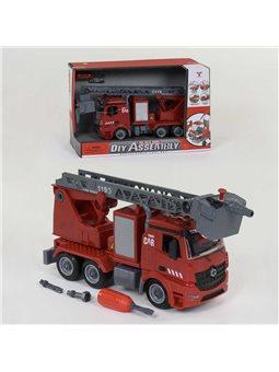 Машина-конструктор YW 9080 B (24) свет, звук, инерция, брызгает водой, в коробке [6978315260065]