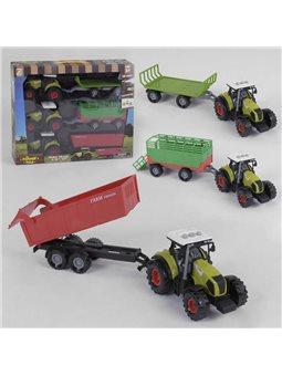 Набор тракторов 550-21 E (24/2) свет, звук, инерция, 3 шт. в коробке [6983815111243]