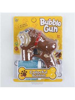 Пистолет с мыльными пузырями 603 (72/2) музыкальный, на батарейках, 2 запаски, на листе [6985569190024]