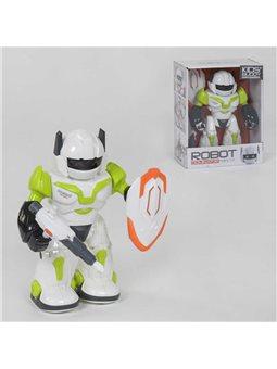 Робот 605-1 (48/2) ходит, свет, звук, вращается на 360⁰, в коробке [6966747010013]
