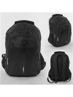 Рюкзак школьный С 43587 (50) 1 отделение, 3 кармана, мягкая спинка, в пакете [6900067435873]