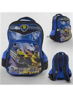 Рюкзак школьный С 43627 (25) 2 отделение, 3 кармана, 3D рисунок, ортопедическая спинка, в пакете [6900067436276]