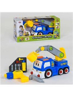 Спецтехника-конструктор 1982 (12) Play Smart, ездит от блока питания, дрель на батарейках, в коробке [6965160260425]