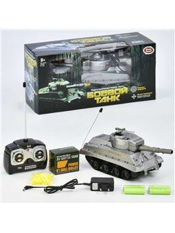 Танк на радиоуправлении 9343 Play Smart (24/2) аккумулятор 4.8V, стреляет пулями, в коробке [6965979080085]