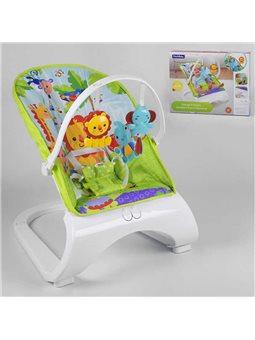 Шезлонг 88929 (6) 2 игрушки, музыка, вибрация, в коробке [6967569250298]