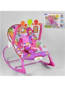 Шезлонг-качалка 8617 (6) 3 игрушки, музыка, вибрация, в коробке [6967569250205]