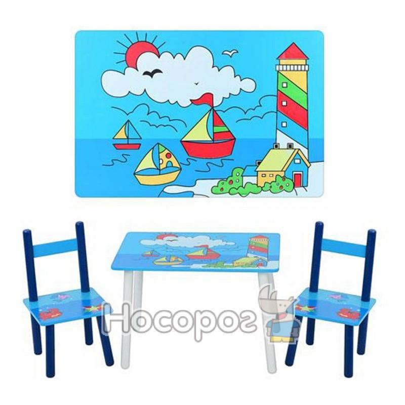 Фото Дитячий столик Е 03-2100 2 стільчика, дерев. (5)