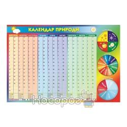 Плакат Календар природи зы стрілками