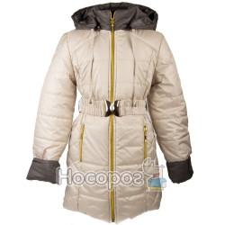 Куртка однотонная №2 с поясом для девочек