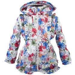 Куртка с цветами и рюшами для девочек
