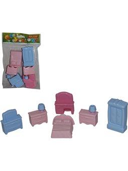 Набор мебели для кукол №1 (6 элементов в пакете) 49322 [4810344049322]