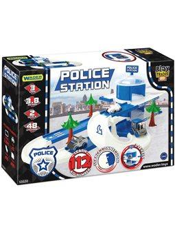 Автомобильный трек Wader Play Tracks City Набор полиция (53520) (5900694535206)