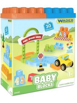 Конструктор Wader Вадер Baby blocks Мои первые кубики 30 элементов (41440)