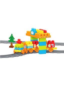 Конструктор Wader Baby Blocks Train Set Мои первые кубики Железная дорога 224 см Вес: 58 элементов (41470) (5900694414709)