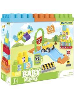 Конструктор Wader Baby Blocks Мои первые кубики 50 элементов в коробке (41450) (5900694414501)