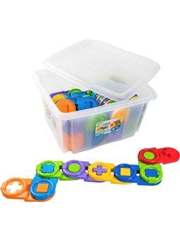 Игрушка-пазл Tigres Детское домино в контейнере 64 элемента (4820159395514) (39551)
