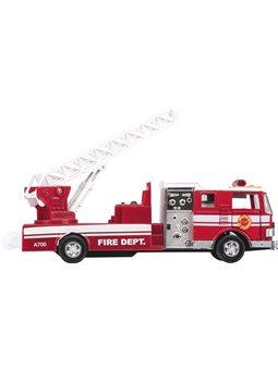 Машинка металлическая goki Пожарная машина лестница красная 12115G-2