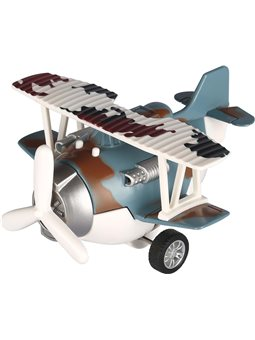 Самолет металлический инерциальной Same Toy Aircraft синий со светом и музыка SY8015Ut-4