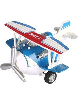 Самолет металлический инерциальной Same Toy Aircraft синий SY8013AUt-2