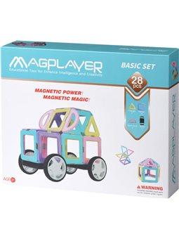 Конструктор Magplayer магнитный набор 28 ел. MPH2-28