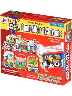 Пазл Same Toy Большой поезд букв и Цифр 2095Ut