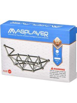 Конструктор Magplayer Магнитный набор 66 эл. MPS-66