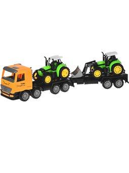 Машинка енерционная Same Toy Super Combination Тягач желтый с трактором и бульдозером 98-90Ut-2