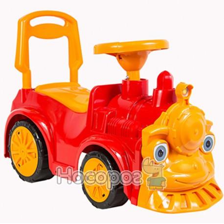 Машинка для катания ПАРОВОЗИК красный 761