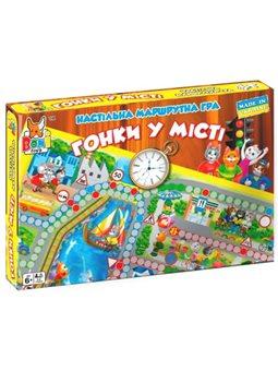Настольная маршрутная игра Гонки в городе, Boni Toys