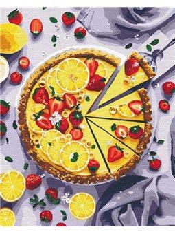 Картины по номерам - лимонный пирог (КНО5594)