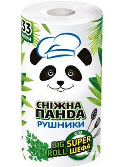 Бумажные полотенца Снежная панда Big Roll 2 слоя (4823019010978)