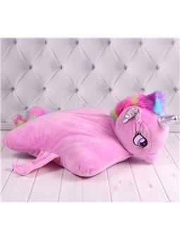 Подушка игрушка Единорог, розовая (00295-700)