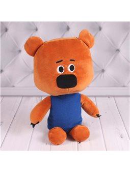 Детский плюшевый мишка в свитере, коричневый