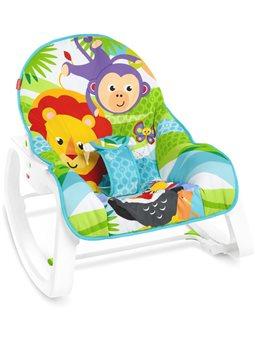 """Массажное кресло-качалка """"Сказочные джунгли"""" Fisher-Price (GNV69) [887961878363]"""