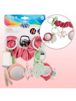 Погремушка к коляске Canpol babies плюшевая Pastel Friends розовая