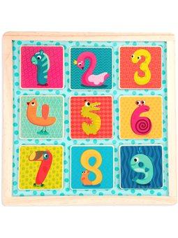 Деревянная игрушка-вкладыш - Магнитные цифры (BX1848GZ) [П0000331230]