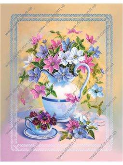 Вышивка бисером - Цветы в кувшине (ВБ1066)