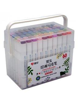 Набор скетч-маркеров Aihao 60 цветов (PM-508-