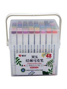 Набор скетч-маркеров Aihao 48 цветов (PM-508-48)