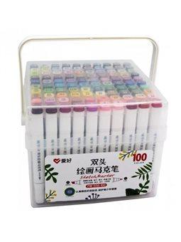 Набор скетч-маркеров Aihao 100 цветов (PM-508-100)