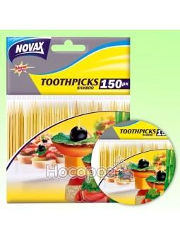 Зубочистки бамбуковые 150 шт NV