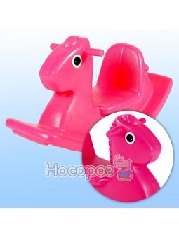 Качалка веселая лошадка S2 розовая 400G00060