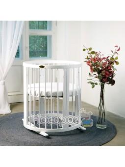 Кроватка SMART BED ROUND 72/120 молочная 1729001