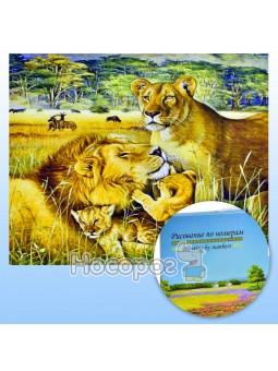 """Картина по номерам KTL 1710 """"Сімейка левів 2"""" 40*30 см. в коробці"""