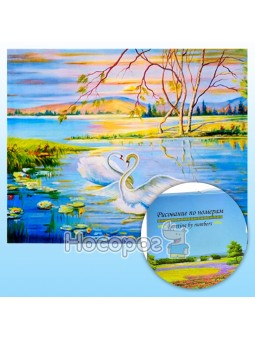 Картина по номерам KTL 1602 Лебединная Любовь