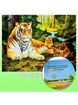 Картина по номерам KTL 0068 Тигры