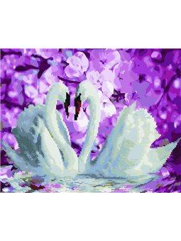 """Алмазная мозаика """"Лебеди"""" Brushme (GZS1071) (в коробке)"""